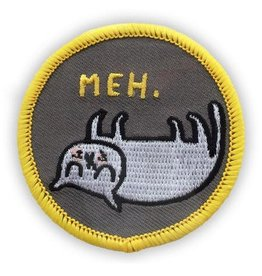 "Badgebomb ""Meh"" Cat Iron On Patch"