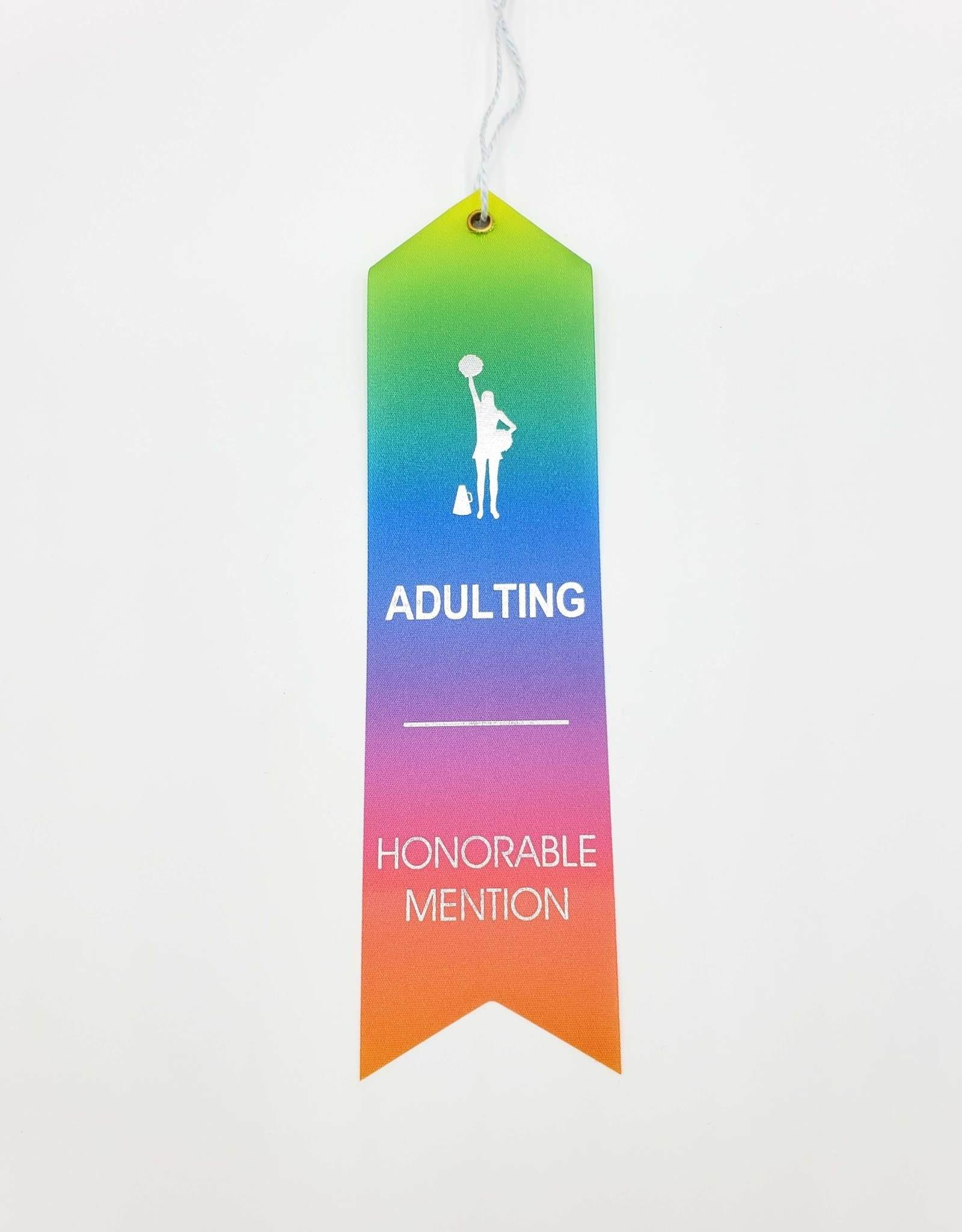 """Adulting Honorable Mention"" Award Ribbon"