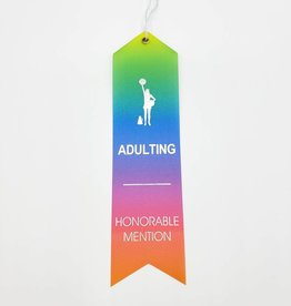 """Adulting Honorable Mention"" Award Ribbon"