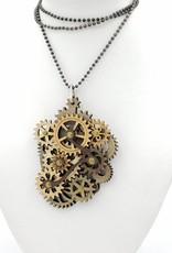 Green Tree Jewelry Laser Cut wood kinetic Necklace