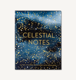 Celestial Notes,16 Foil-Stamped Notecards with Envelopes Art by Yao Cheng