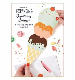 Cherry Berry Expanding Greeting Card Set