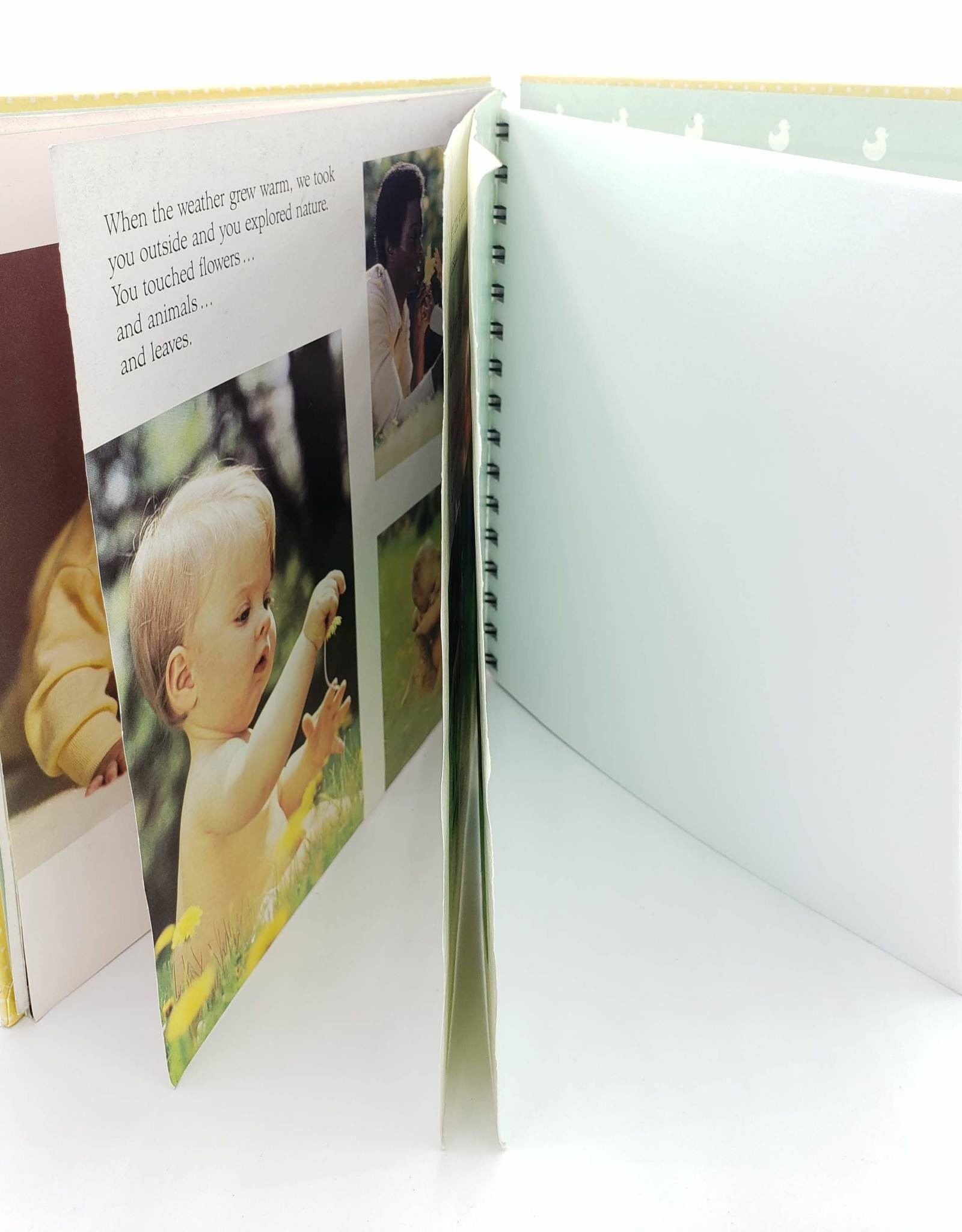 Attic Journals When You Were a Baby - Recycled Book Journal