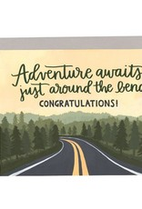 """Adventure Awaits"" Graduation Greeting Card - 1Canoe2"