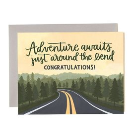 """Adventure Awaits"" Graduation Greeting Card - One Canoe Two"