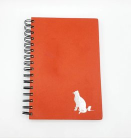 Cat and Mouse - Orange Recycled Book Journal