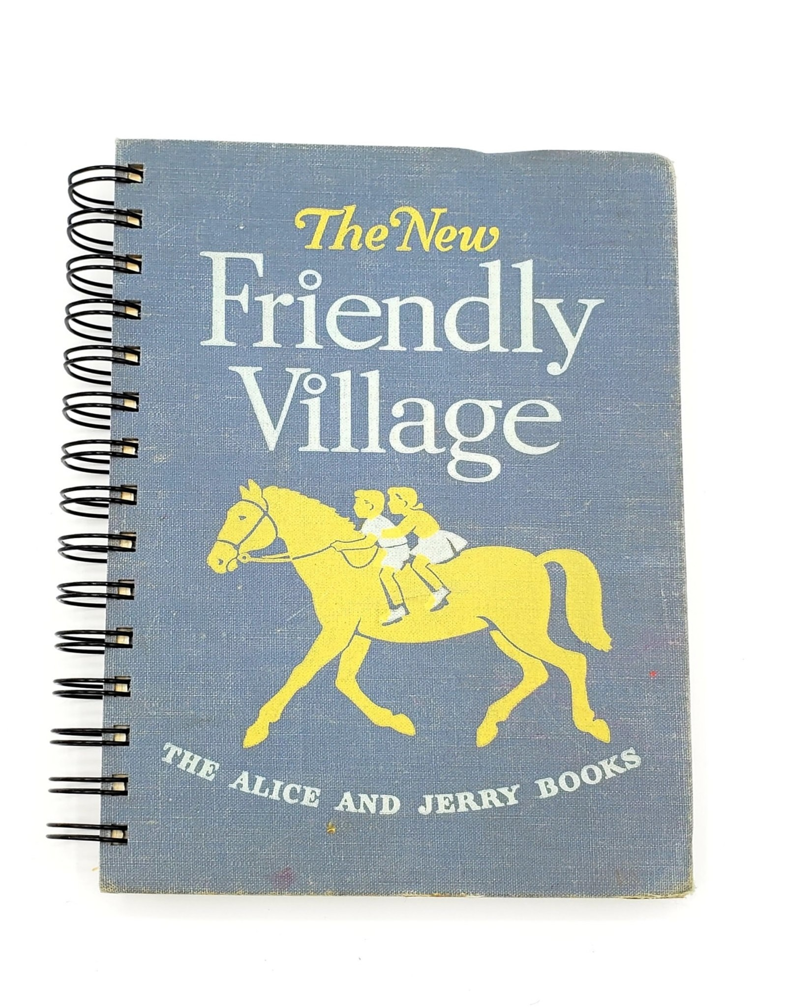 Attic Journals Friendly Village - Recycled Book Journal