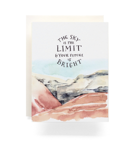 """The Sky is the Limit"" Graduation Greeting Card - Antiquaria"