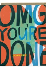 "Emily McDowell ""OMG You're Done"""" Congratulations Greeting Card - Emily McDowell"