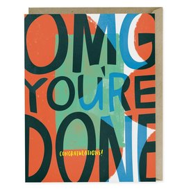"""Emily McDowell """"OMG You're Done"""""""" Graduation Greeting Card - Emily McDowell"""
