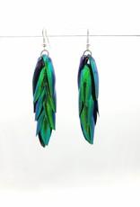 "Beetle Wing Earrings 3.5"""