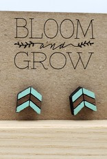 Bloom & Grow Designs Painted Wood Small Arrow Post Earrings