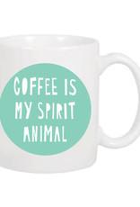 """Coffee Is My Spirit Animal"" Mug by Near Modern Disaster"