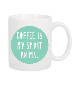 """Coffee Is My Spirit Animal"" Mug by Near Modern Disaster"