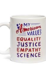 "Emily McDowell ""American Values"" Mug by Emily McDowell"