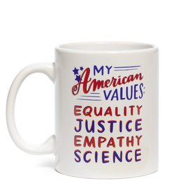 "Emily McDowell ""American Values"" Mug by Emily McDowell"