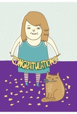 "Gemma Correll ""Congratulations"" Greeting Card"