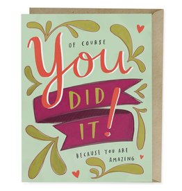 "Emily McDowell ""Of Course You Did It"" Congratulations Greeting Card - Emily McDowell"