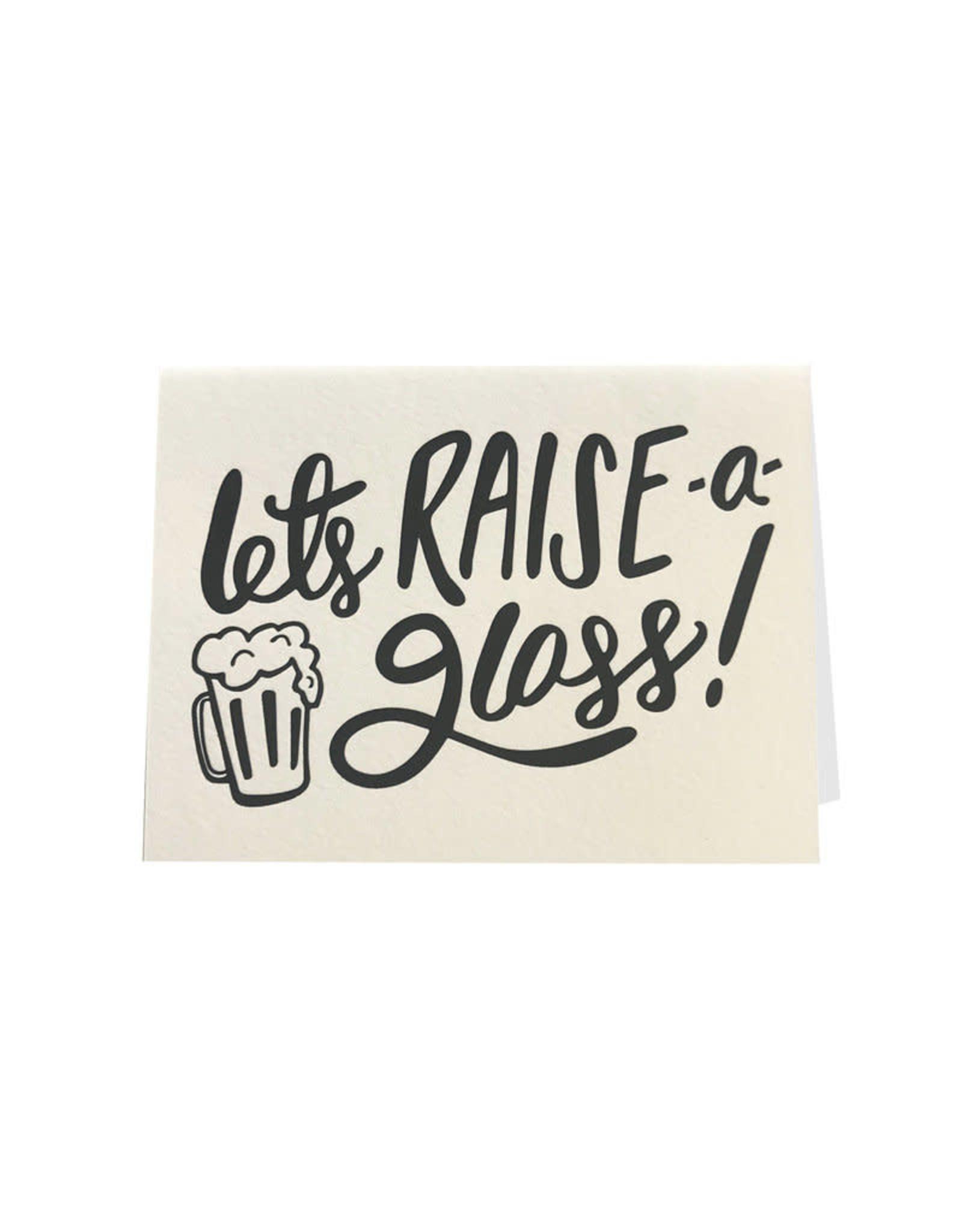 """Let's Raise a Glass"" Congratulations Greeting Card - Dahlia Press"