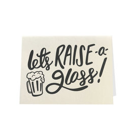 """Let's Raise a Glass"" Congratulations Greeting Card - Dahlia Press"