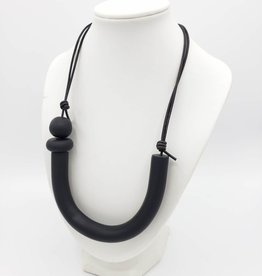 Rachael Perisho Lucky U Necklace - Black