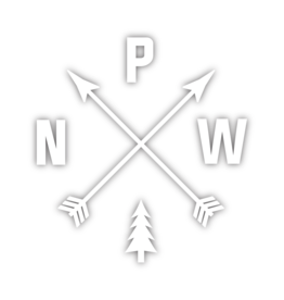 Sticker PNW Arrows Small Die-Cut, White