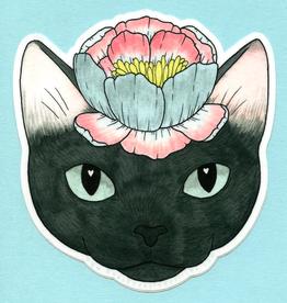 Flower Cat Sticker - Bee's Knees Industries