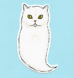 Ghost Cat Sticker - Bee's Knees Industries