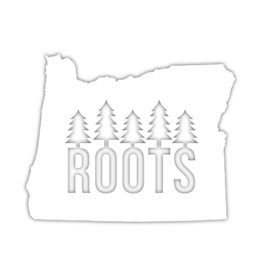 Oregon Roots Small Die-Cut Sticker Decal, White