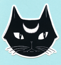 Bee's Knees Industries Lunar Black Cat Sticker - Bee's Knees Industries