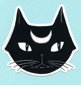 Lunar Black Cat Sticker - Bee's Knees Industries