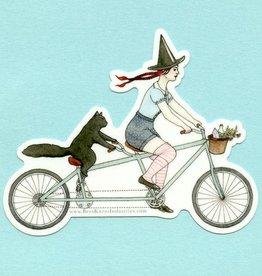 Witch Cat Tandem Bike Sticker - Bee's Knees Industries