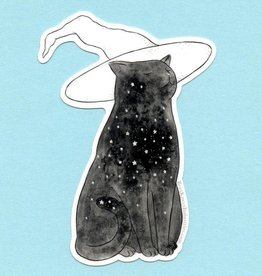 Starry Witch Cat Sticker - Bee's Knees Industries