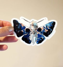 Stasia Burrington Moth Girl Sticker - Stasia Burrington