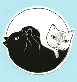 Yin and Yang Cats Sticker - Bee's Knees Industries