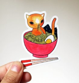 Stasia Burrington Ramen Cat Sticker - Stasia Burrington