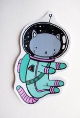 Stasia Burrington Space Cat Sticker - Stasia Burrington
