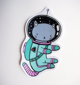 Stasia Burrington Space Cat Sticker - Stasia Burrington
