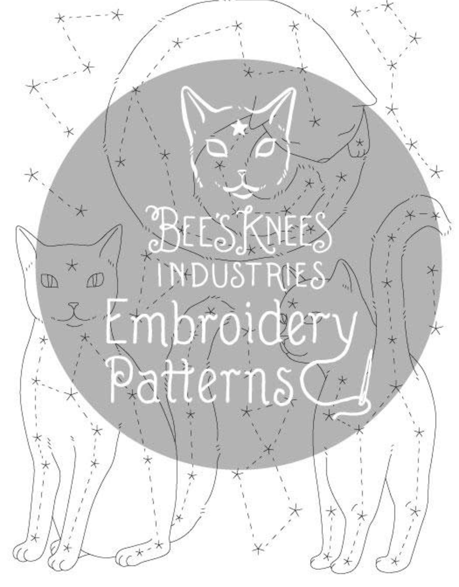 Bee's Knees Industries Catstellations Iron-On Embroidery Transfer - Bee's Knees Industries
