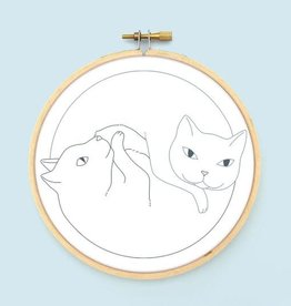 Catnaps Iron-On Embroidery Transfer - Bee's Knees Industries