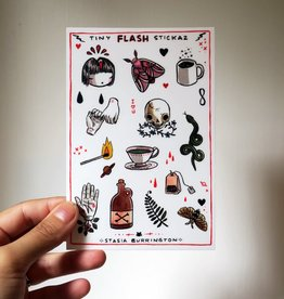 Stasia Burrington Sticker Sheet Tiny Flash Stickaz Stasia Burrington