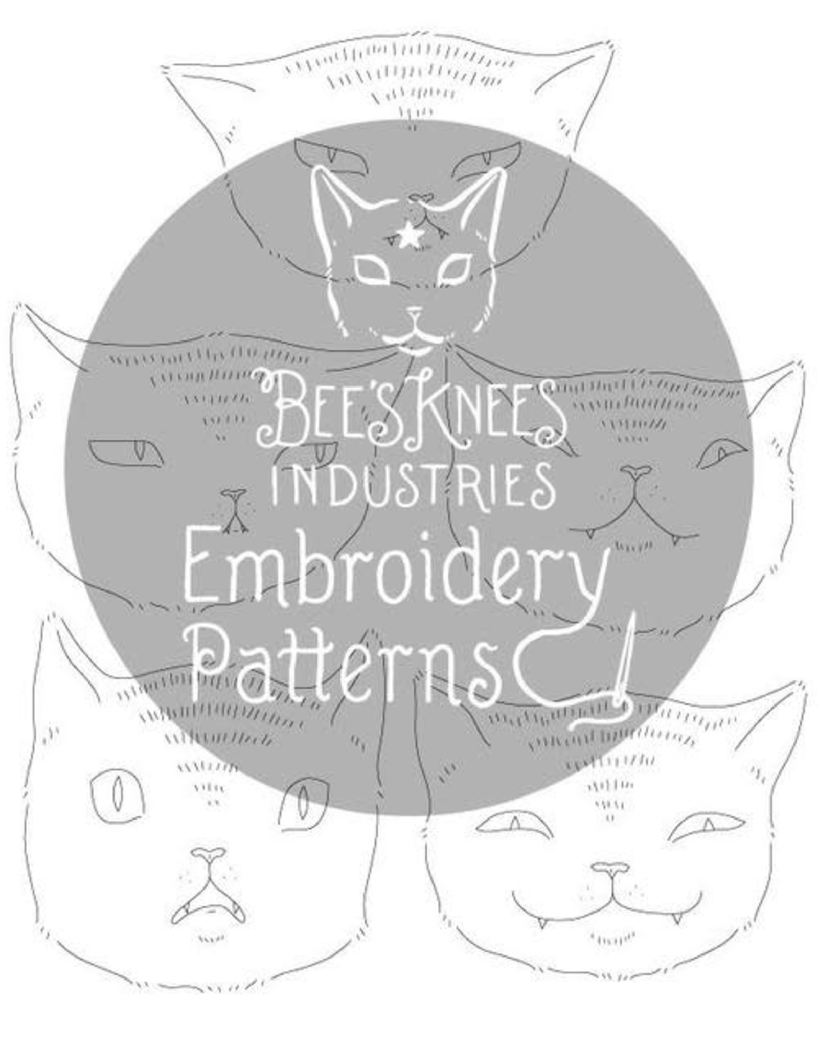 Bee's Knees Industries Expressive Cats Iron-On Embroidery Transfer - Bee's Knees Industries