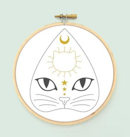Witchcats Iron-On Embroidery Transfer - Bee's Knees Industries