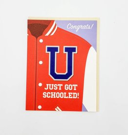 Seltzer ''U Just Got Schooled'' Graduation Greeting Card - Seltzer