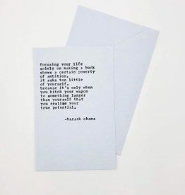 Greeting Card Obama Graduation Quote - A Favorite Design