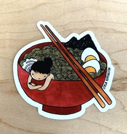 Stasia Burrington Ramen Girl Sticker - Stasia Burrington