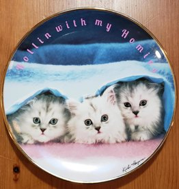 """Rollin With My Homies"" - Vintage Upcycled Plate Art"