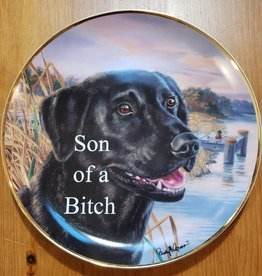 """Son of A Bitch"" - Vintage Upcycled Plate Art"