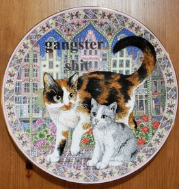 """Gangster Shit"" - Vintage Upcycled Plate Art"