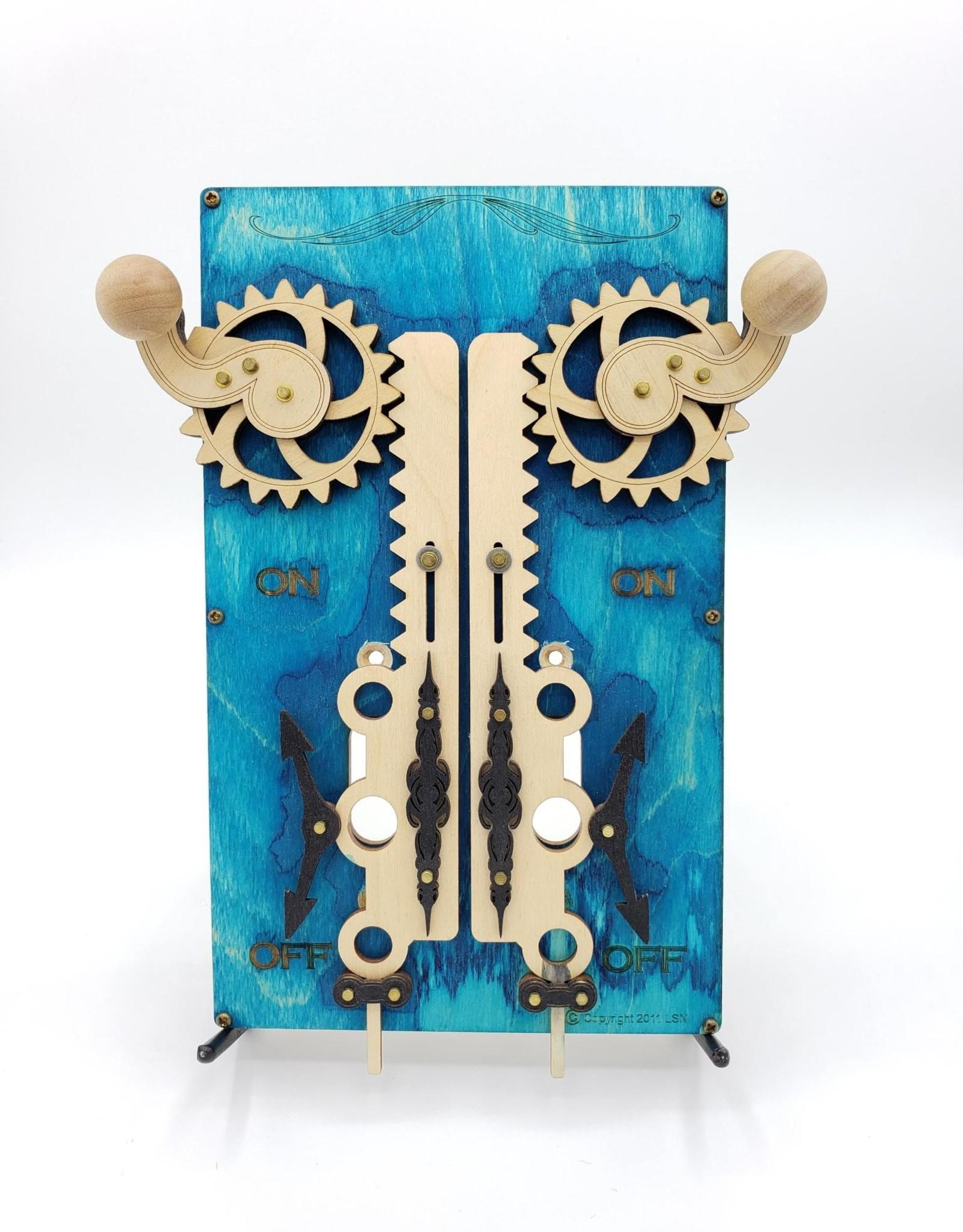 Green Tree Jewelry Steampunk Double Light Switch Plate - Blue